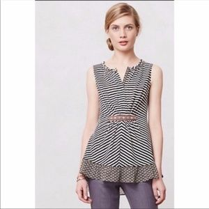 Anthro || One September blue sleeveless blouse